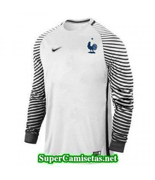 Portero Equipacion Camiseta Francia ML Blanco 2016 2017
