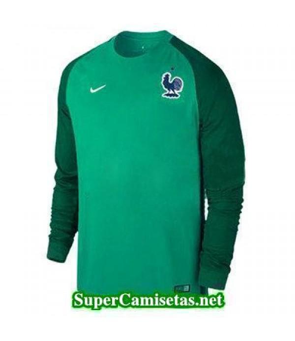 Portero Equipacion Camiseta Francia ML Verde 2016 2017