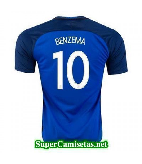 Primera Equipacion Camiseta Francia BENZEMA Eurocopa 2016