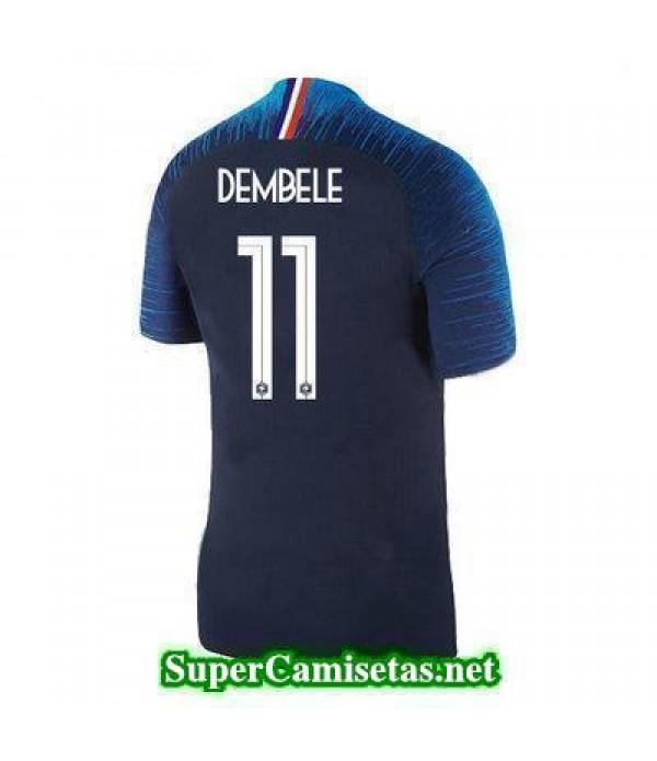 Primera Equipacion Camiseta Francia Dembele Copa Mundial 2018