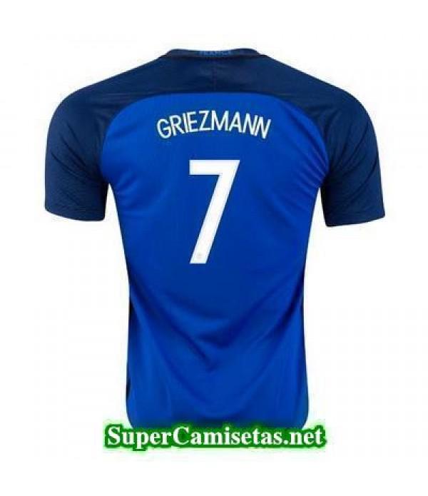 Primera Equipacion Camiseta Francia GRIEZMANN Eurocopa 2016