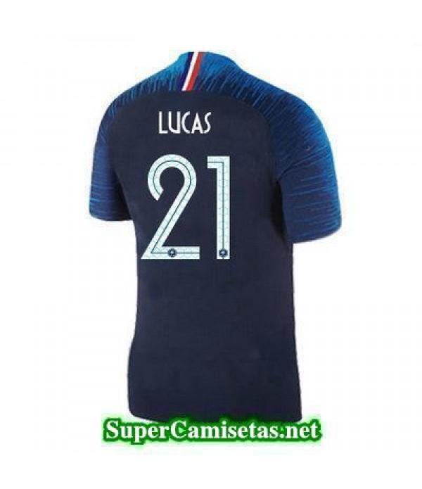 Primera Equipacion Camiseta Francia Lucas Copa Mundial 2018