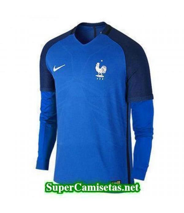 Primera Equipacion Camiseta Francia Manga Larga Eurocopa 2016