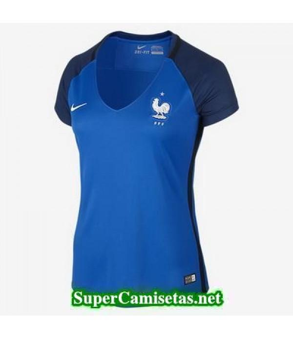 Primera Equipacion Camiseta Francia Mujer Eurocopa 2016