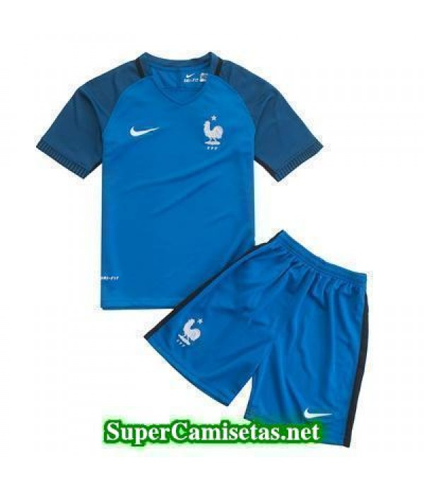 Primera Equipacion Camiseta Francia Ninos Eurocopa 2016