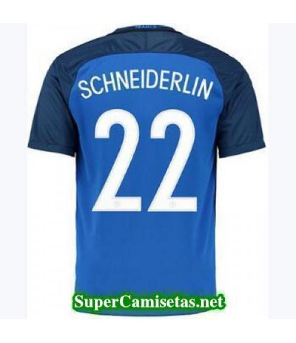 Primera Equipacion Camiseta Francia SCHNEIDERLIN Eurocopa 2016