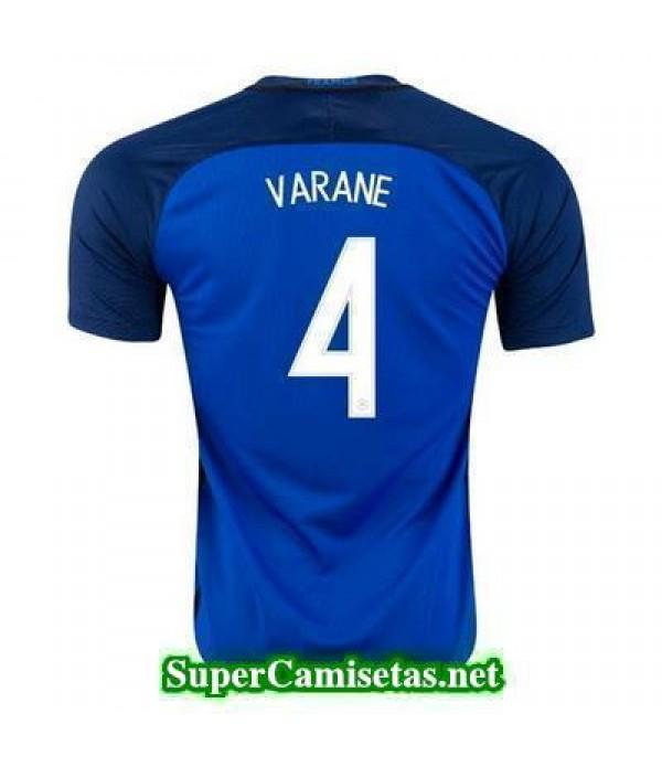 Primera Equipacion Camiseta Francia VARANE Eurocopa 2016