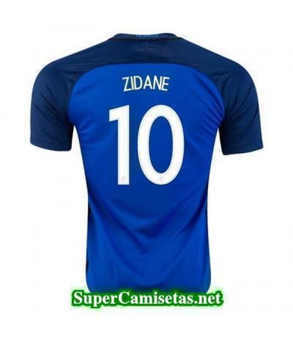 Primera Equipacion Camiseta Francia ZIDANE Eurocopa 2016