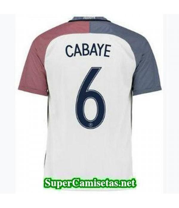 Segunda Equipacion Camiseta Francia CABAYE Eurocopa 2016