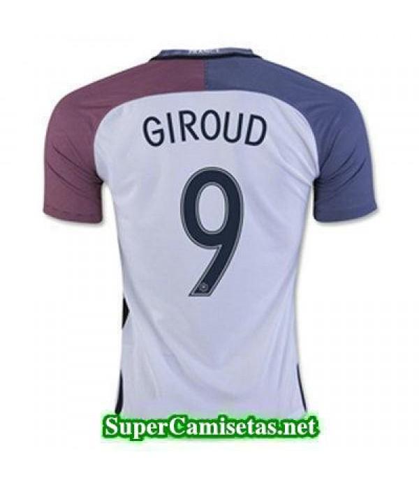 Segunda Equipacion Camiseta Francia GIROUD Eurocopa 2016
