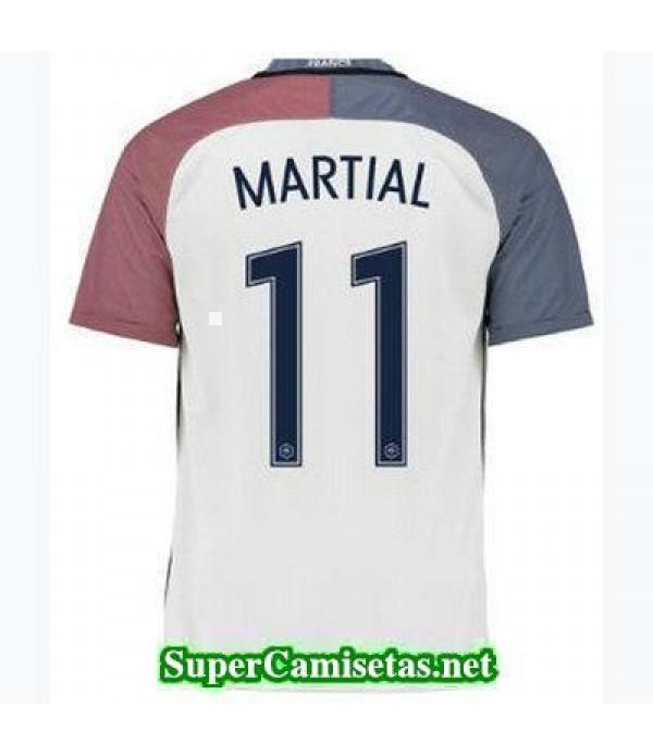 Segunda Equipacion Camiseta Francia MARTIAL Eurocopa 2016