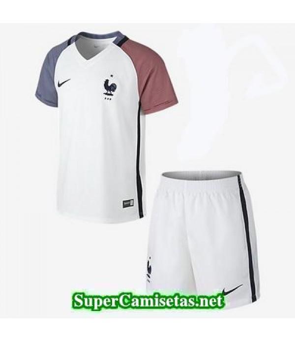 Segunda Equipacion Camiseta Francia Ninos Eurocopa 2016