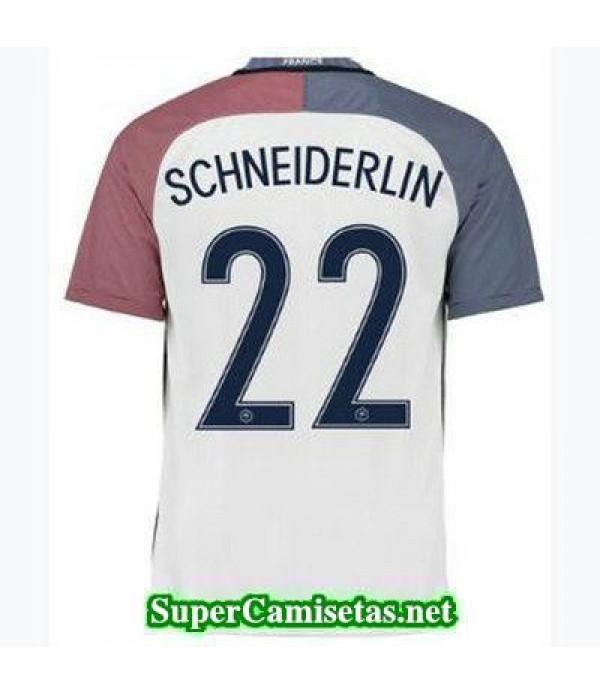 Segunda Equipacion Camiseta Francia SCHNEIDERLIN Eurocopa 2016
