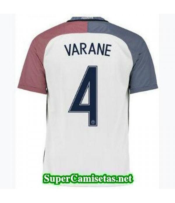 Segunda Equipacion Camiseta Francia VARANE Eurocopa 2016