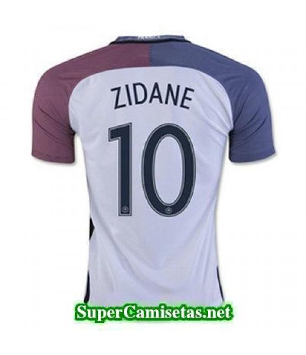 Segunda Equipacion Camiseta Francia ZIDANE Eurocopa 2016