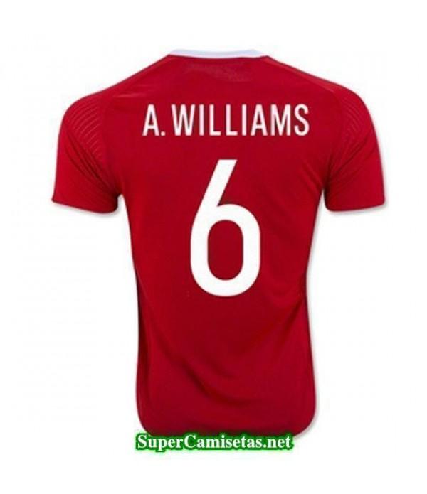 Primera Equipacion Camiseta Gales A WILLIAMS Eurocopa 2016