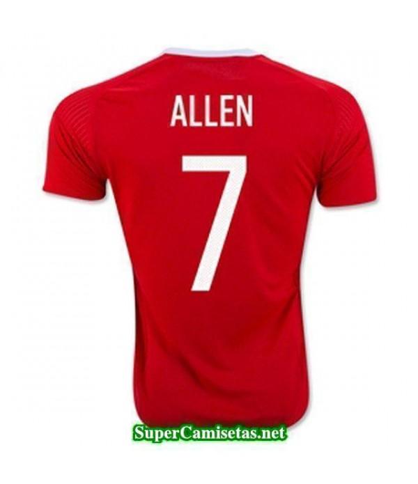 Primera Equipacion Camiseta Gales ALLEN Eurocopa 2016