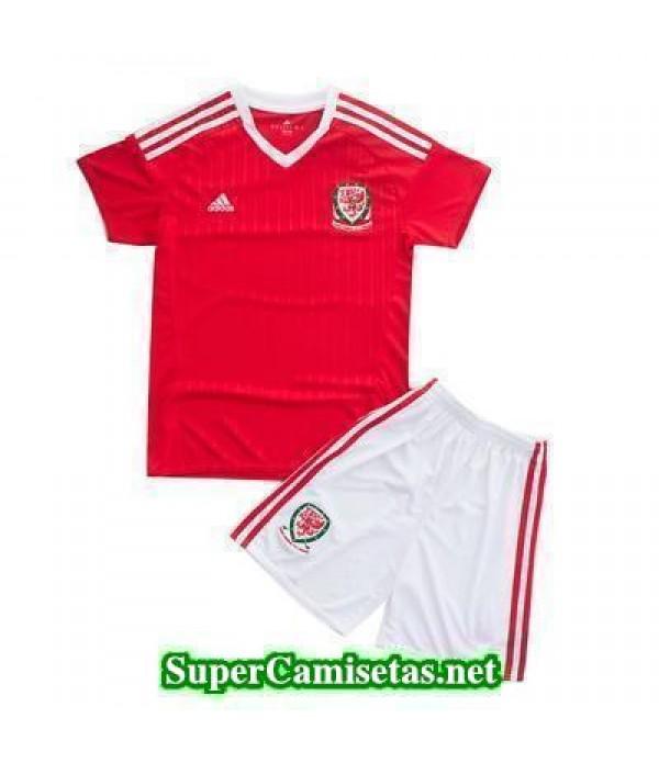 Primera Equipacion Camiseta Gales Ninos Eurocopa 2016