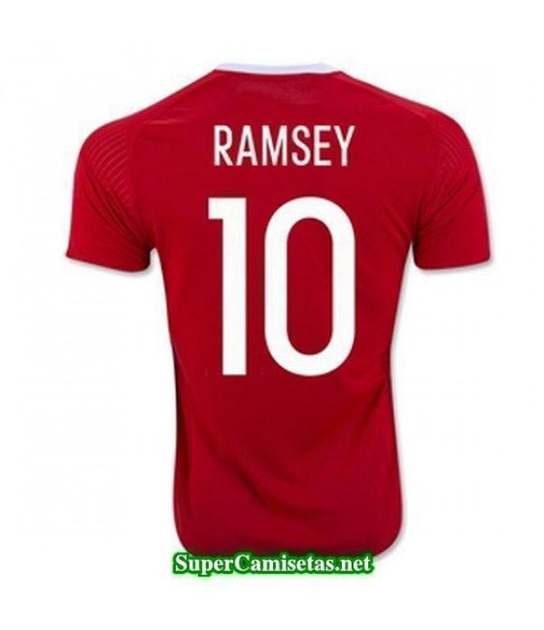 Primera Equipacion Camiseta Gales RAMSEY Eurocopa 2016