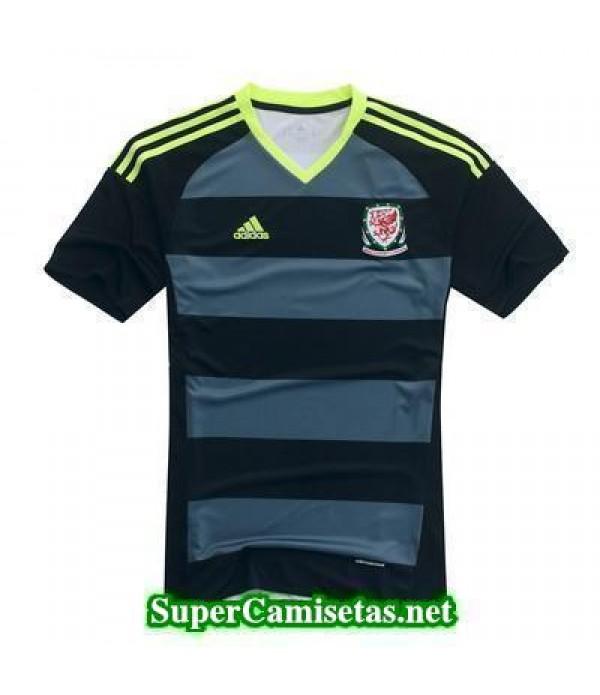 Segunda Equipacion Camiseta Gales Eurocopa 2016