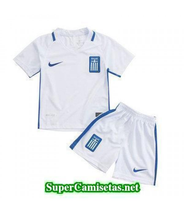 Primera Equipacion Camiseta Grecia Ninos Eurocopa 2016