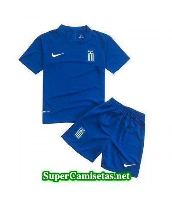 Segunda Equipacion Camiseta Grecia Ninos Eurocopa 2016