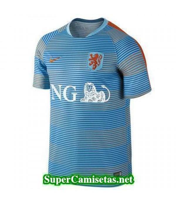 camiseta entrenamiento Holanda azul Eurocopa 2016