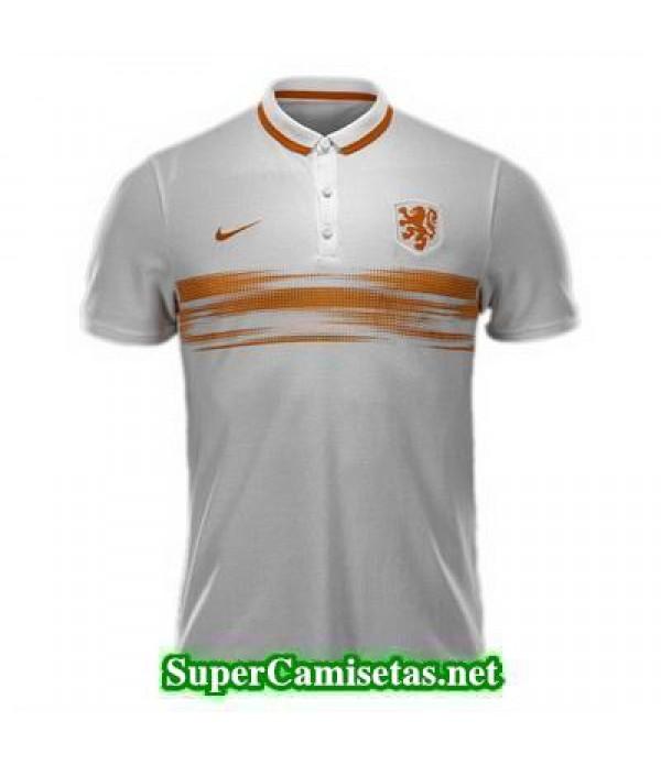 Camiseta polo Holanda blanco 2015 2016