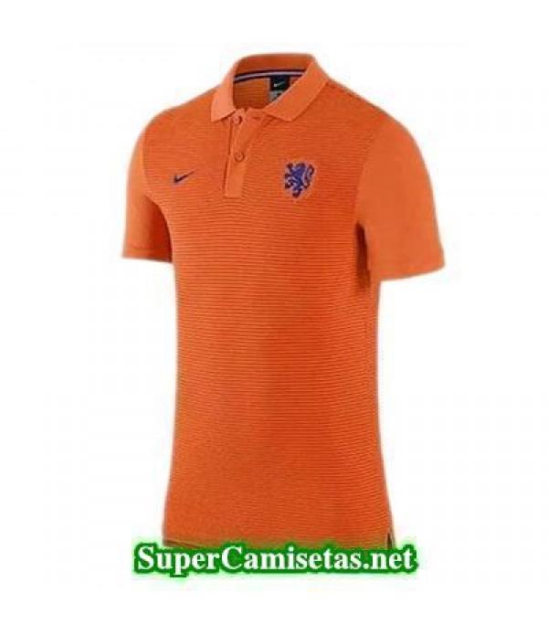 Camiseta polo Holanda Naranja 2016 2017