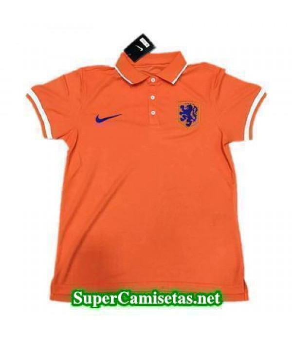 Camiseta polo Holanda Naranja/blanco 2016 2017