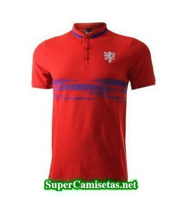 Camiseta polo Holanda rojo 2015 2016