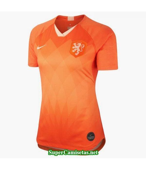 Primera Equipacion Camiseta Holanda Mujer Copa Mundial 2019