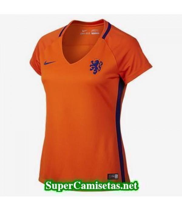 Primera Equipacion Camiseta Holanda Mujer Eurocopa 2016
