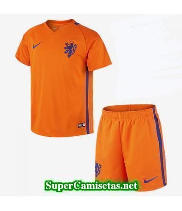 Primera Equipacion Camiseta Holanda Ninos Eurocopa 2016