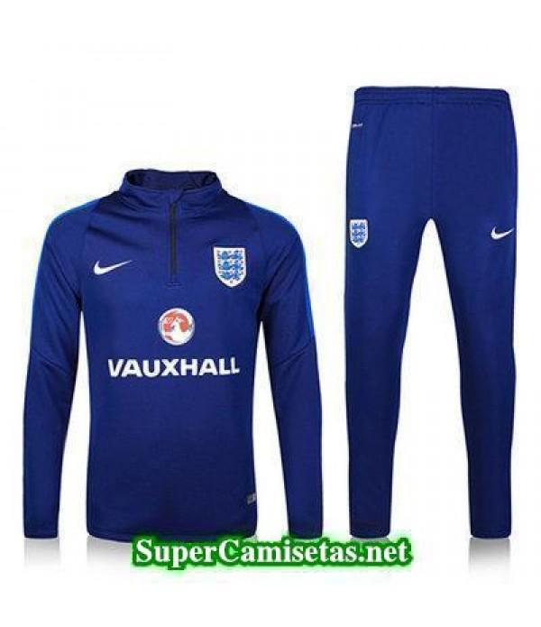 camiseta entrenamiento Inglaterra ML Azul 2016