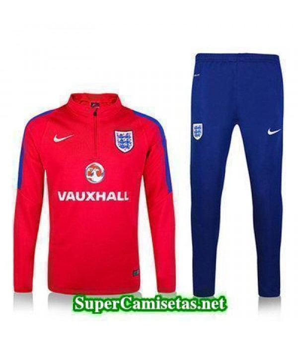 camiseta entrenamiento Inglaterra ML rojo 2016