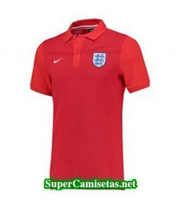 Camiseta polo Inglaterra Rojo Eurocopa 2016