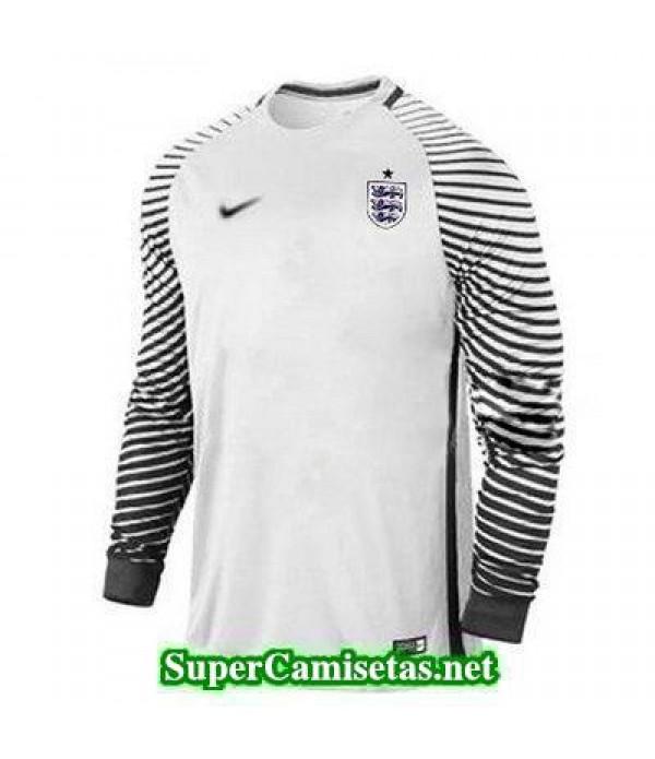 Portero Equipacion Camiseta Inglaterra ML Blanco 2016 2017