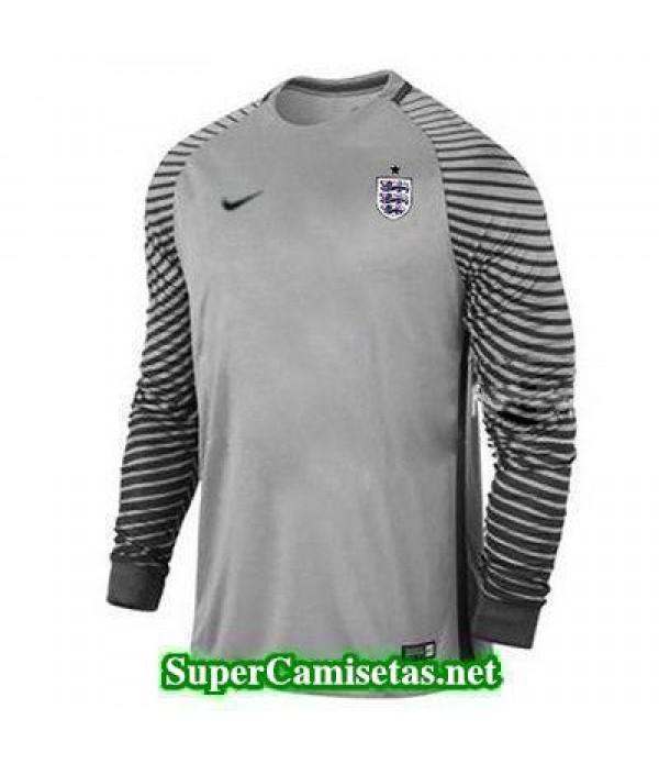 Portero Equipacion Camiseta Inglaterra ML Gris 2016 2017