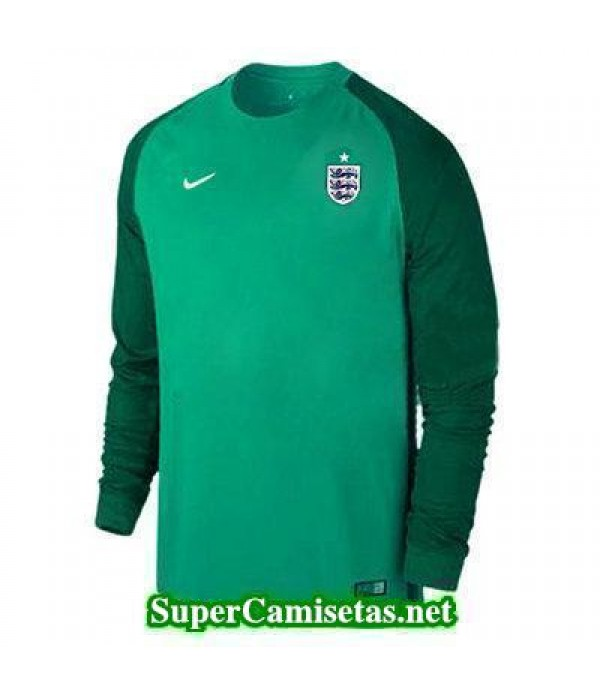 Portero Equipacion Camiseta Inglaterra ML Verde 2016 2017