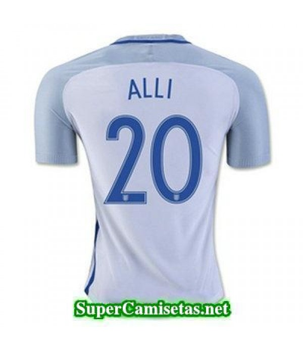 Primera Equipacion Camiseta Inglaterra ALLI Eurocopa 2016