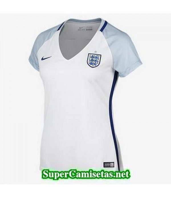 Primera Equipacion Camiseta Inglaterra Mujer Eurocopa 2016