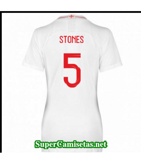 Primera Equipacion Camiseta Inglaterra Mujer Stones Copa Mundial 2018