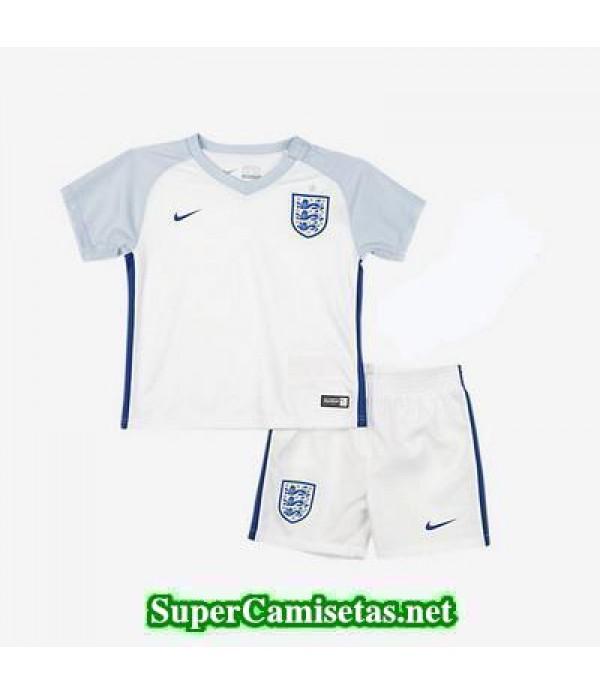 Primera Equipacion Camiseta Inglaterra Ninos Eurocopa 2016