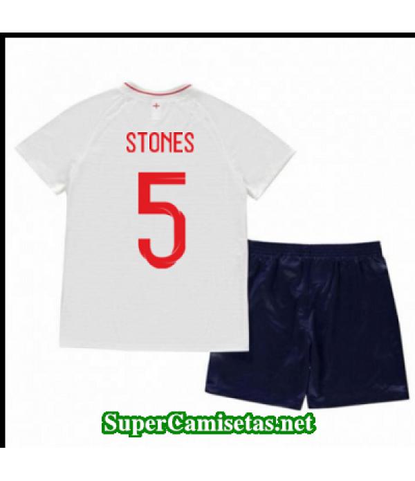 Primera Equipacion Camiseta Inglaterra Ninos Stones Copa Mundial 2018