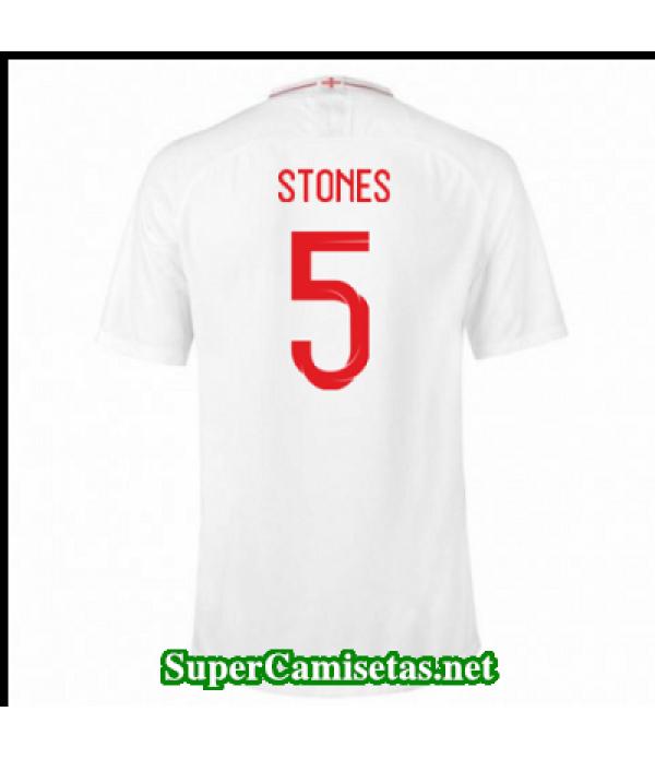 Primera Equipacion Camiseta Inglaterra Stones Copa Mundial 2018