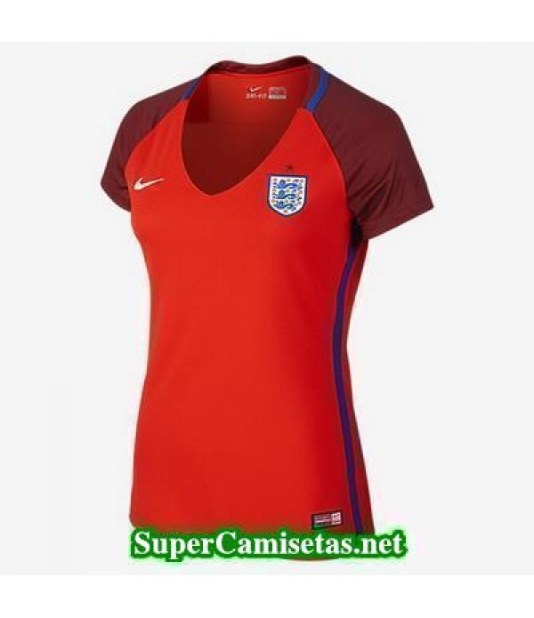 Segunda Equipacion Camiseta Inglaterra Mujer Eurocopa 2016