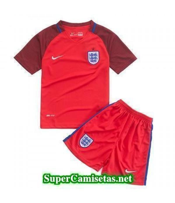 Segunda Equipacion Camiseta Inglaterra Ninos Eurocopa 2016