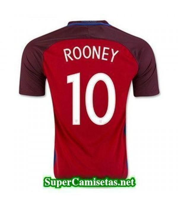 Segunda Equipacion Camiseta Inglaterra ROONEY Eurocopa 2016