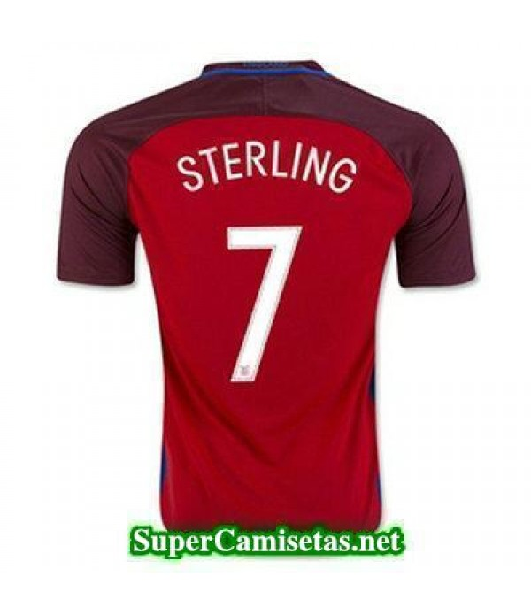 Segunda Equipacion Camiseta Inglaterra STERLING Eurocopa 2016